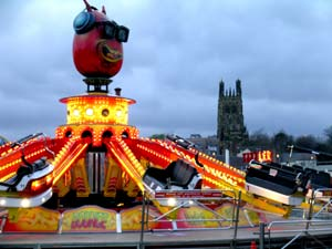 "The ""Bounce"" ride at Eagle's Meadow, Wrexham"